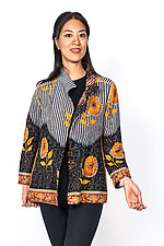 Short Jacket #1 by Mieko Mintz  (Medium (6-8), Cotton Jacket)