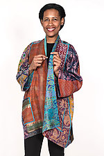 A-Line Jacket #13 by Mieko Mintz  (Size XL (16-20), Silk Jacket)