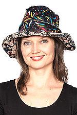 Circular Cut Brim Hat #2 by Mieko Mintz  (One Size, Cotton Hat)