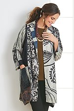 Chandee Patch A-Line Duster by Mieko Mintz (Woven Jacket)