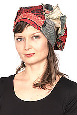 Kantha Beret #3 by Mieko Mintz  (One Size, Cotton Hat)