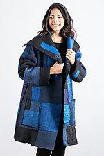 Pocket Coat #3 by Mieko Mintz (Wool, Cotton, and Silk Coat, O/S (2-16))