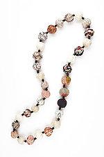 Small Nut Medium Necklace in Ivory by Mieko Mintz (Silk Necklace)