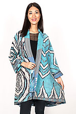 Kimono Long Jacket #4 by Mieko Mintz  (One Size (2-16), Cotton Jacket)