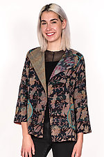 Short Jacket #12 by Mieko Mintz  (Size L (10-14), Silk & Cotton Jacket)