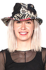 Circular Cut Brim Hat #3 by Mieko Mintz  (One Size, Cotton Hat)