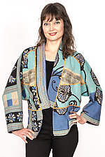 Dolman Short Jacket #2 by Mieko Mintz  (Size L (14-16), Cotton Jacket)