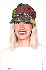 Tucked Brim Hat #2 by Mieko Mintz  (One Size, Cotton Hat)