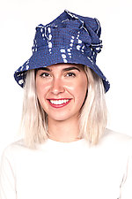 Full Brim Hat #1 by Mieko Mintz  (One Size, Cotton Hat)