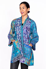 A-Line Jacket #10 by Mieko Mintz  (Size M/L (6-14), Silk Jacket)