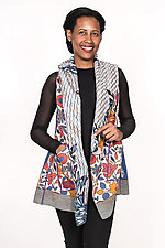 Hooded Vest #2 by Mieko Mintz  (One Size (4-14), Cotton Vest)