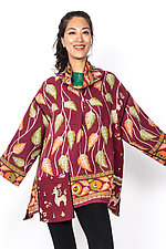 Cowl Collar Tunic #3 by Mieko Mintz  (One Size (4-16), Cotton Tunic)