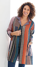 Fray Patch A-Line Duster by Mieko Mintz (Woven Jacket)