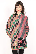 High-Neck Topper #5 by Mieko Mintz  (One Size (6-14), Cotton Jacket)