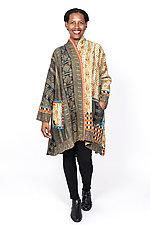 Kimono Long Jacket #3 by Mieko Mintz  (One Size (2-16), Cotton Jacket)