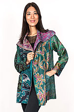 Pocket Jacket #3 by Mieko Mintz  (One Size (2-14), Silk Jacket)