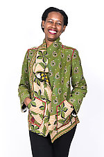 Wing Collar Jacket #3 by Mieko Mintz  (Large (14-16), Cotton Jacket)