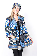 Back Tuck Jacket #1 by Mieko Mintz  (Small (2-6), Cotton Jacket)