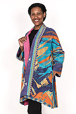 Kimono Long Jacket #1 by Mieko Mintz  (One Size (2-16), Cotton Jacket)