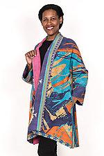 Kimono Long Jacket #1 by Mieko Mintz  (One Size (2-16), Cotton Jacket)