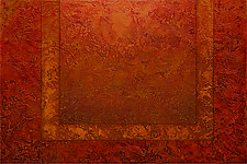 Radiant Textures Series 07 by Wolfgang Gersch (Mixed-Media Painting & Giclee Print on Aluminum)