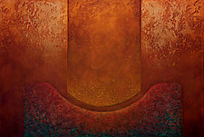 Radiant Textures Series 08 by Wolfgang Gersch (Giclee Print on Aluminum)