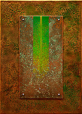 Golden Reyes 09 in Green by Wolfgang Gersch (Giclee Print on Aluminum)