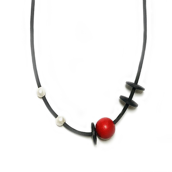 Red Dot Necklace II