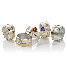 Between You and Me Ring by Dagmara Costello (Gold, Silver & Stone Ring)