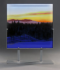 Purple Afternoon by Paul Messink (Art Glass Sculpture)