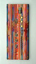 Sunset Coral Wall Panel by Mark Ditzler (Art Glass Wall Art)