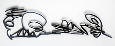 Scribble II by Paul Arsenault (Metal Wall Sculpture)