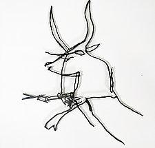 Prehistoric Bull by Paul Arsenault (Metal Wall Sculpture)