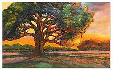 Sunrise Oak by Anne Nye (Art Glass Sculpture)