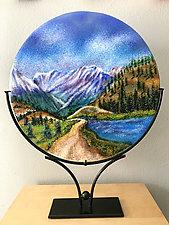 Up Baker Creek II by Anne Nye (Art Glass Sculpture)