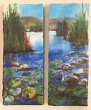 Still Waters by Anne Nye (Art Glass Wall Sculpture)