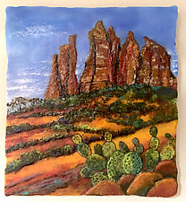 Sedona Time by Anne Nye (Art Glass Wall Sculpture)