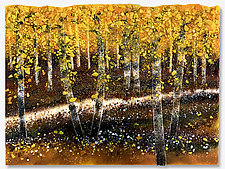 Woodland Path by Anne Nye (Art Glass Wall Sculpture)