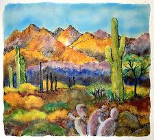 Desert Morning by Anne Nye (Art Glass Wall Sculpture)