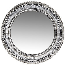 Frost Drop Mirror by Angie Heinrich (Mosaic Mirror)