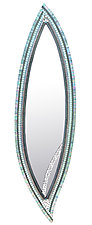 Willow Leaf by Angie Heinrich (Art Glass Mirror)