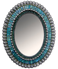 Gift Series: Teal Drop by Angie Heinrich (Mosaic Mirror)