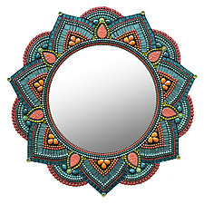 Starlight Mandala, Cocktail by Angie Heinrich (Art Glass Mirror)