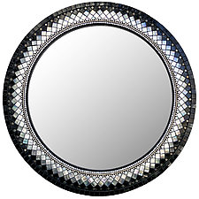 Ebony Mirror by Angie Heinrich (Mosaic Mirror)