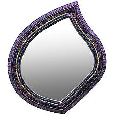 Jasmine Leaf Mirror by Angie Heinrich (Mosaic Mirror)
