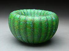 Green Treasure Bowl by Thomas Spake (Art Glass Bowl)