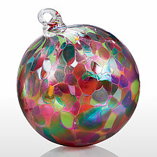 Glad Tidings by Art of Fire (Art Glass Ornament)