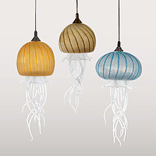 Sun, Sand, and Sea by Jennifer Caldwell and Jason Chakravarty (Art Glass Pendant Lamp)