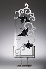 Slipping Away by Jennifer Caldwell and Jason Chakravarty (Art Glass Sculpture)
