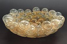 Schiuma Vetro Terrina in Champagne by Jennifer Nauck (Art Glass Bowl)